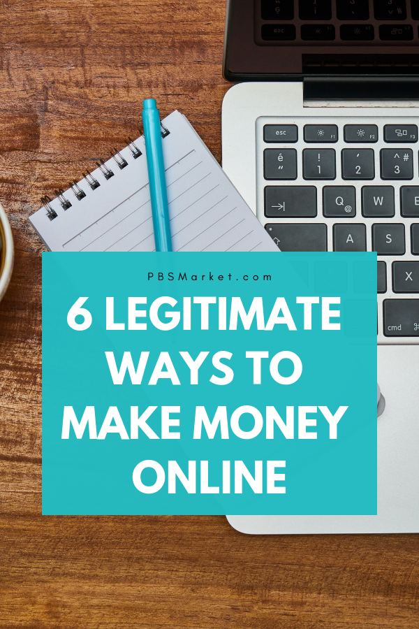 Making money online is possible. However, you have to be sure you are making extra money the right way. Learn 6 legitimate ways to make money online. Anyone can make extra cash using the internet. #makemoneyonline #makeextramoney #increaseincome