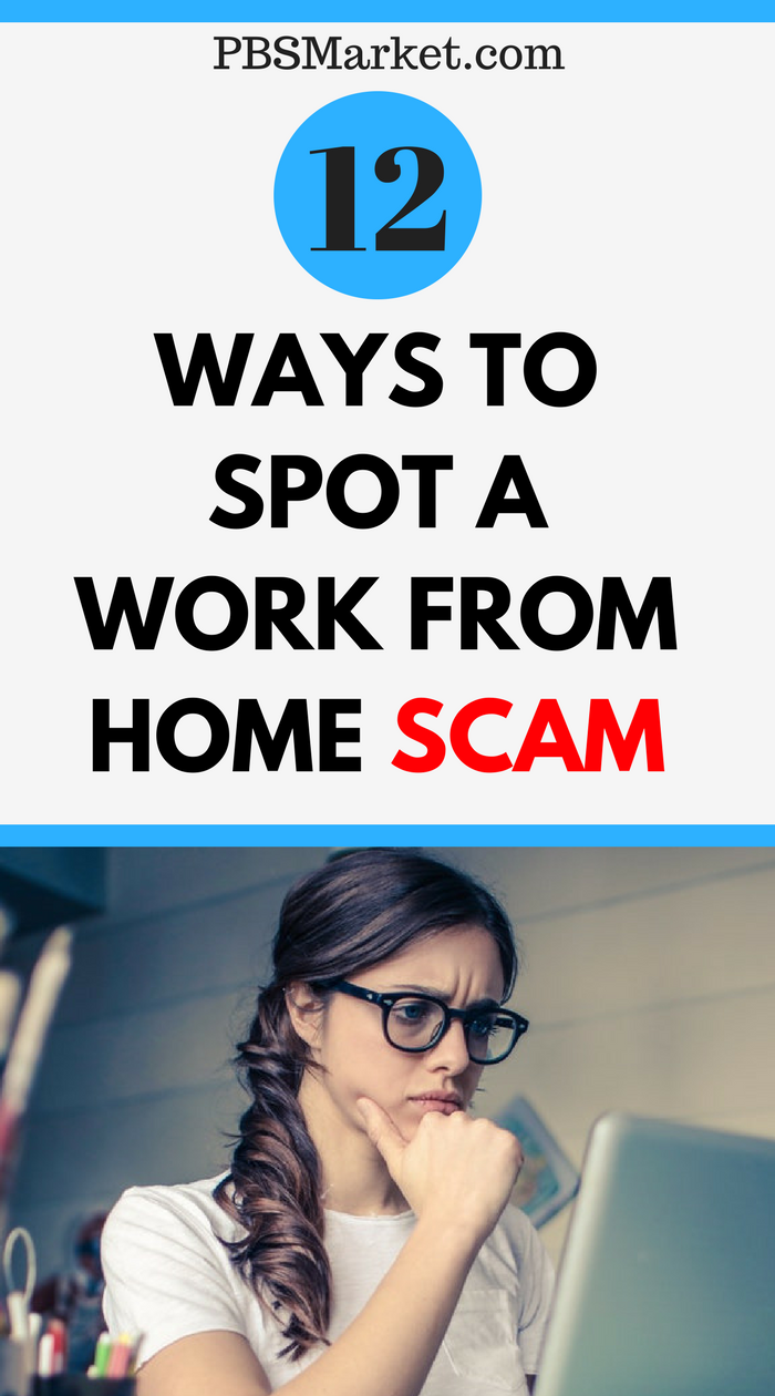 ways to spot a work from home scam