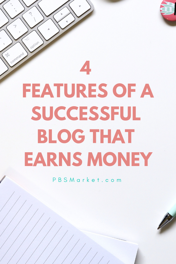 Blogging is a skill, a craft, and an art form. Blogging is also a way for you to earn extra money if you just include the right features on your blog. #blogging #makeextramoney #pbsmarket